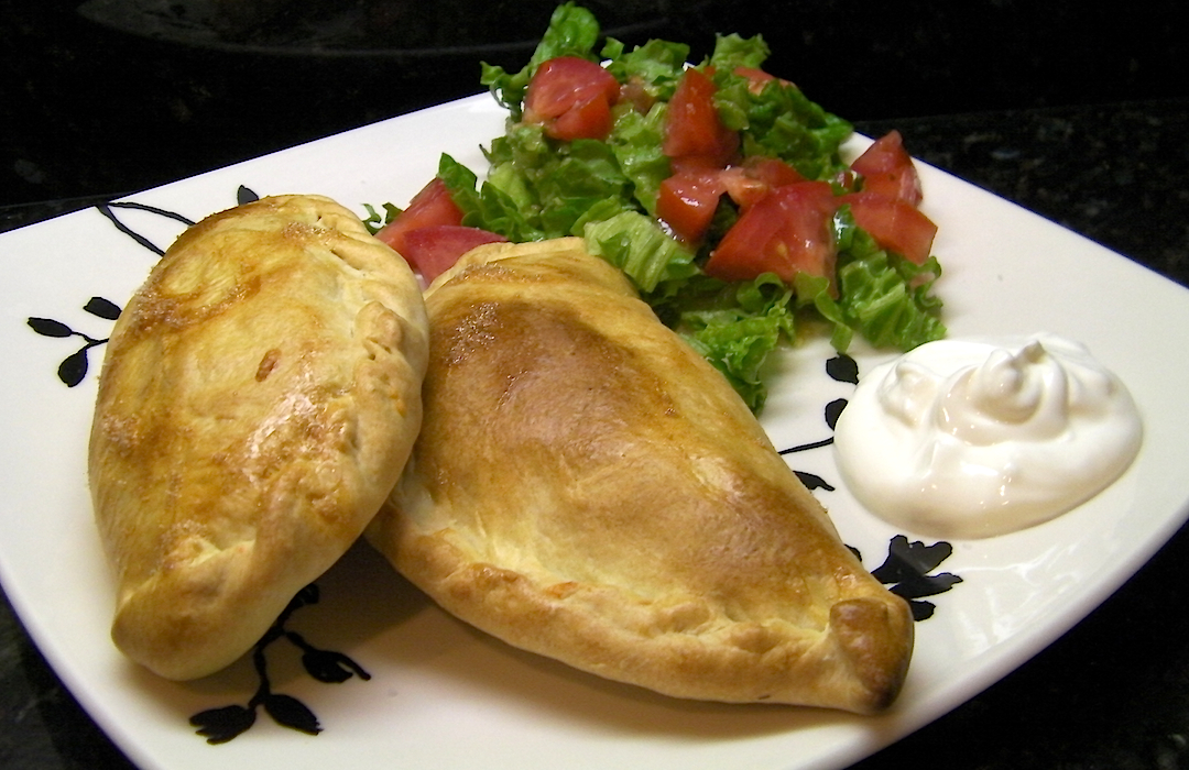 Chicken, Bean and Green Chile Empanadas