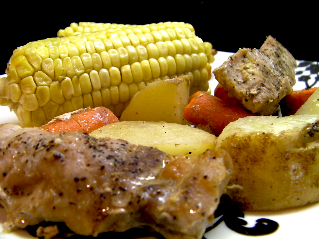 Country Ribs with Fresh Steamed Corn