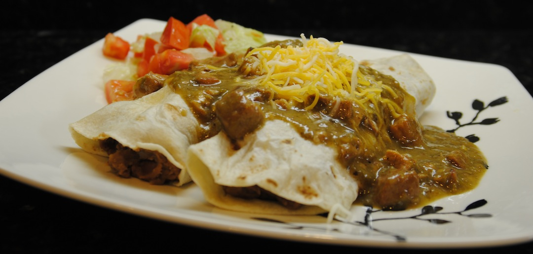 Chile Verde Smothered Burritos