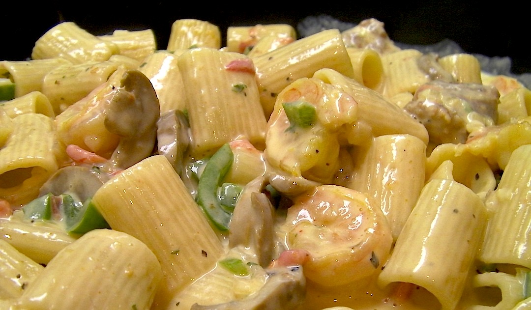 Creamy Cajun Shrimp and Andouille Pasta