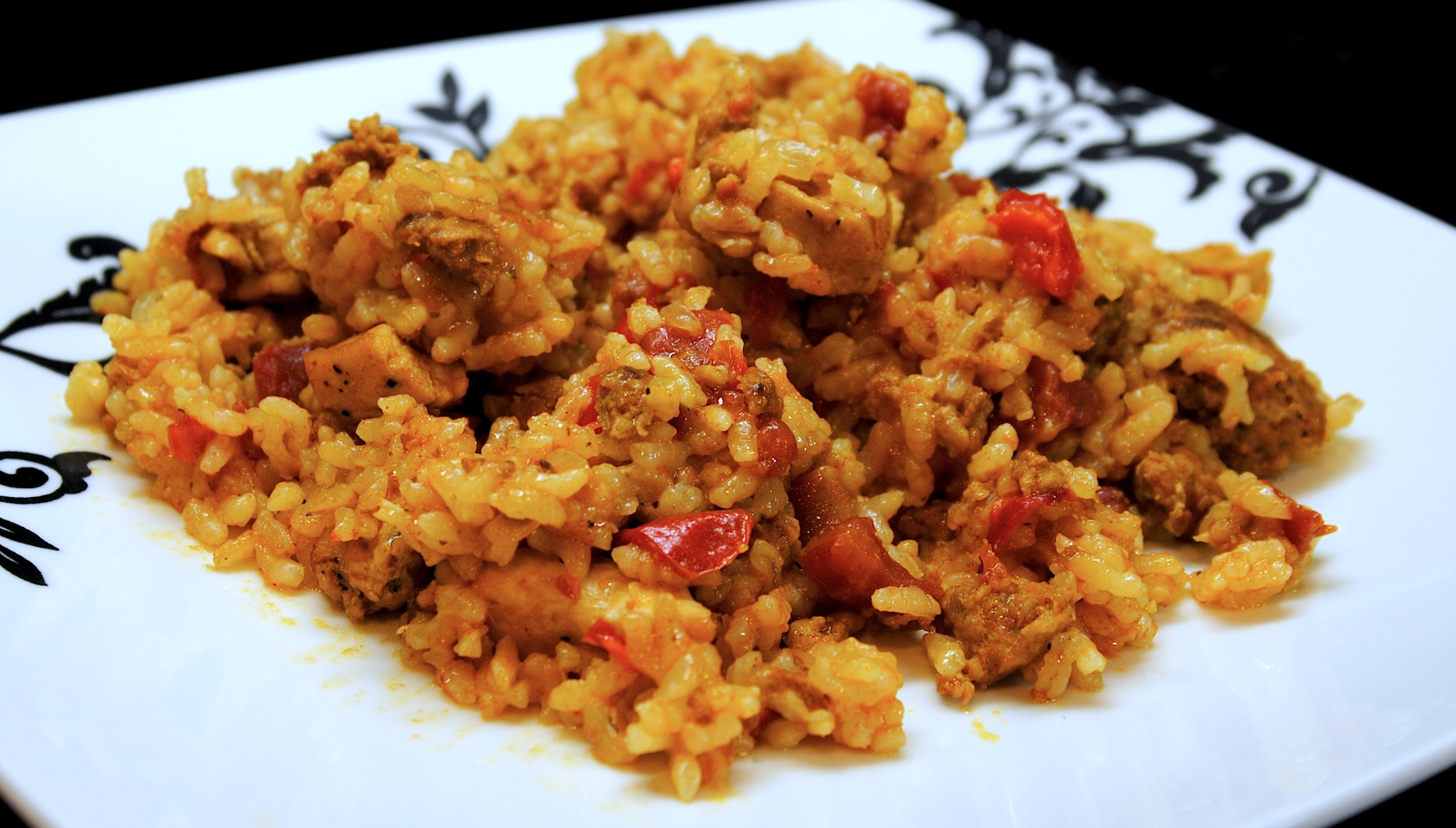 Mexican Arroz Con Pollo Recipe Arroz con pollo y chorizo an