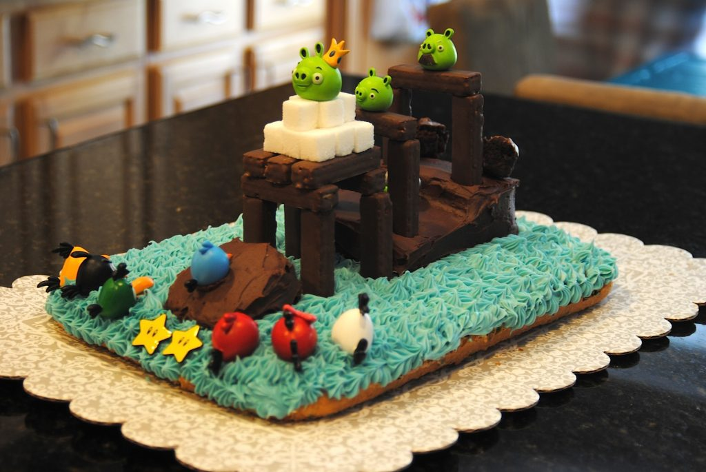 Angry Bird Cake view 2