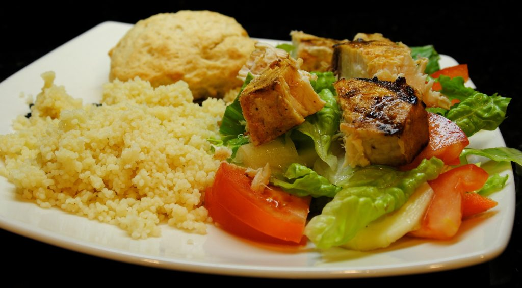 Couscous and Grilled Ahi Salad