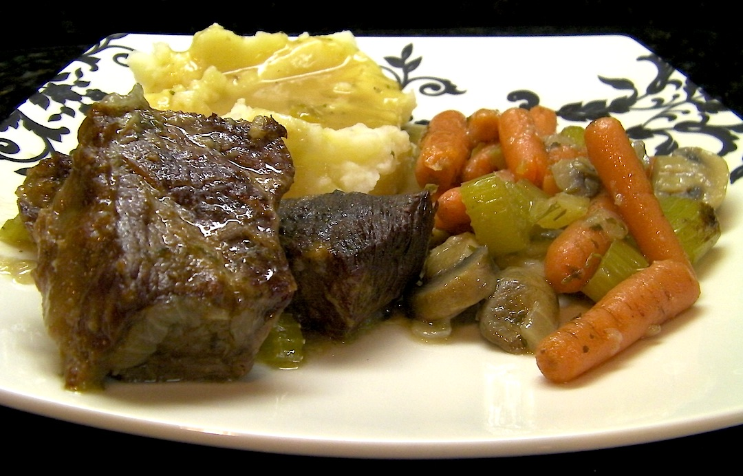 Braised Short Ribs And Homemade Mashed Potatoes